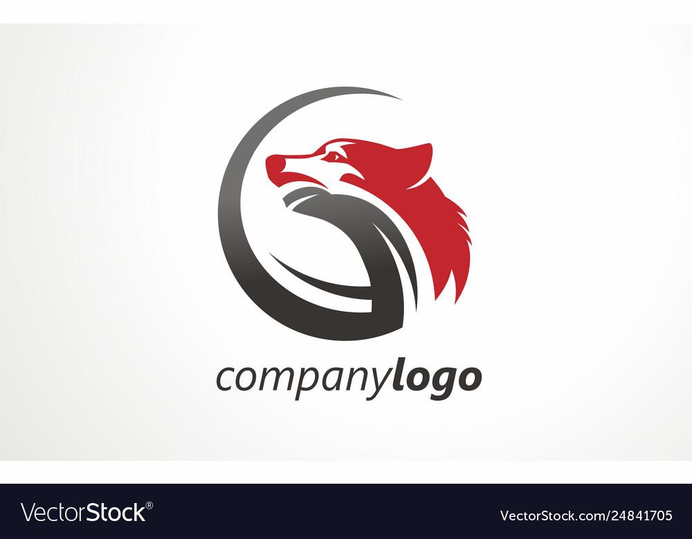 Company logo wolf sign symbol mark