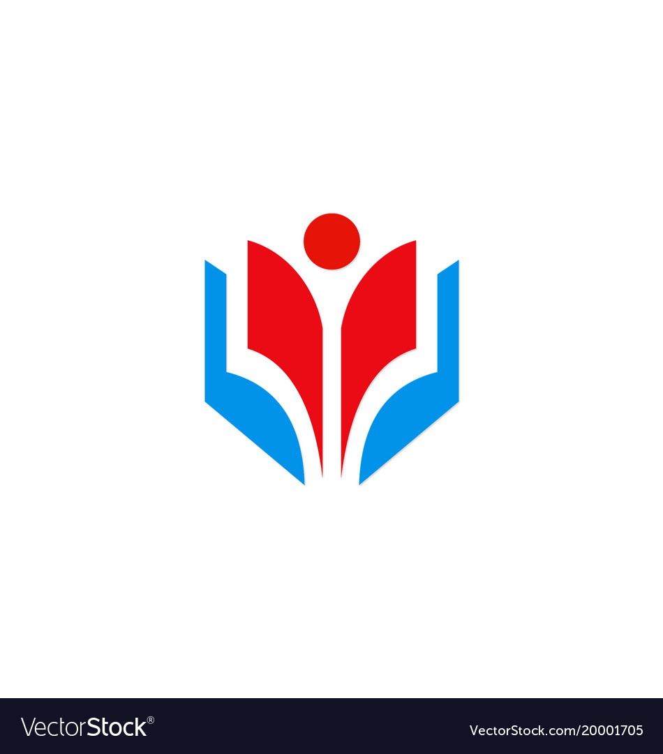 Education student school logo vector image