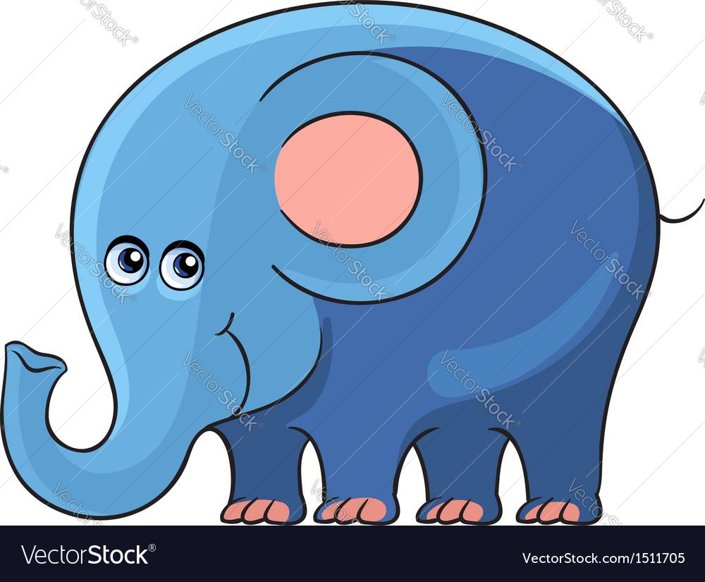 Elephant Cartoon african wild animal character vector image