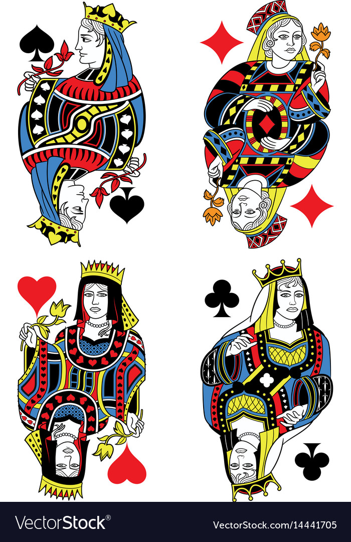 Four queens french inspiration without cards vector image