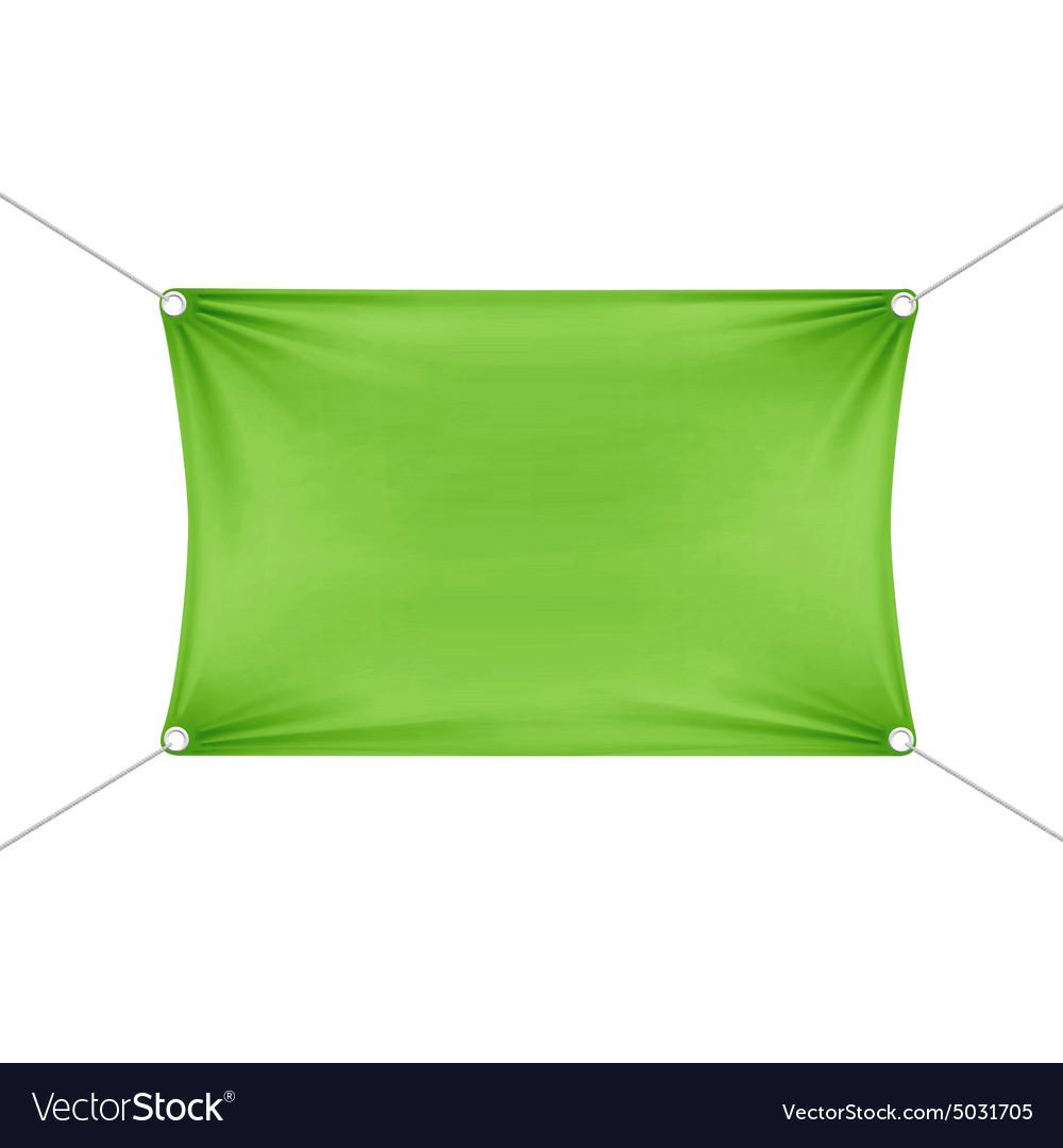 Green Blank Empty Horizontal Rectangular Banner vector image