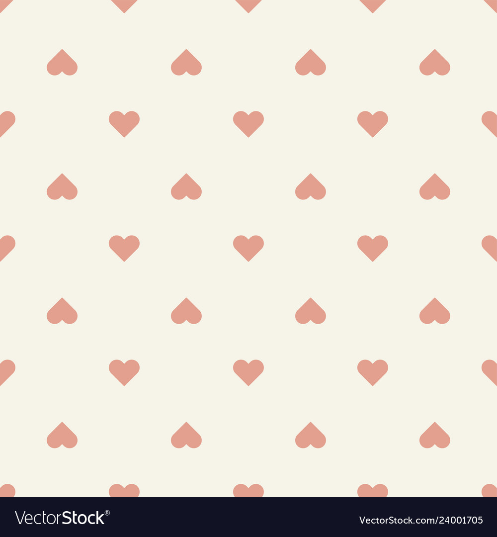 Seamless pattern retro heart shape
