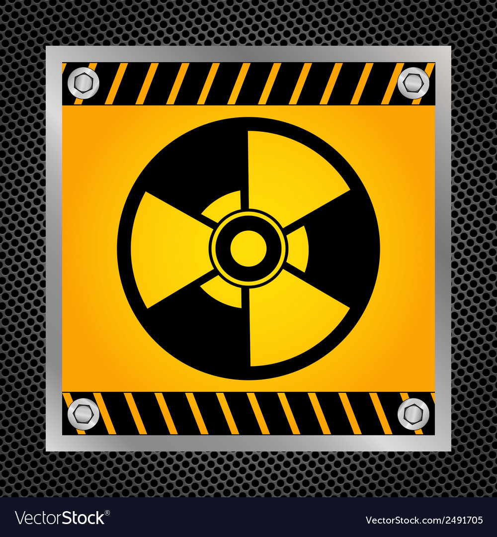 Sign of radioactivity vector image