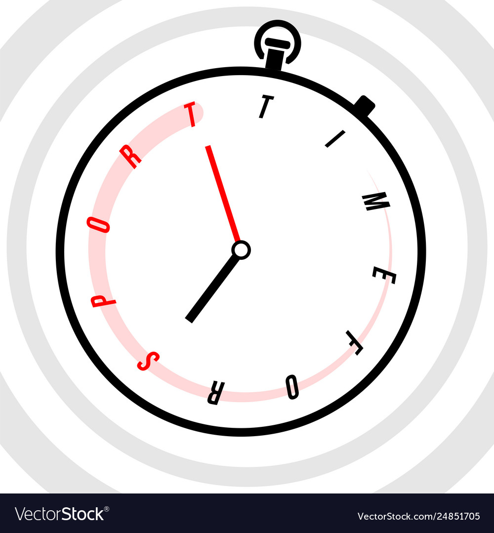 Stopwatch with clock face stylized like text time