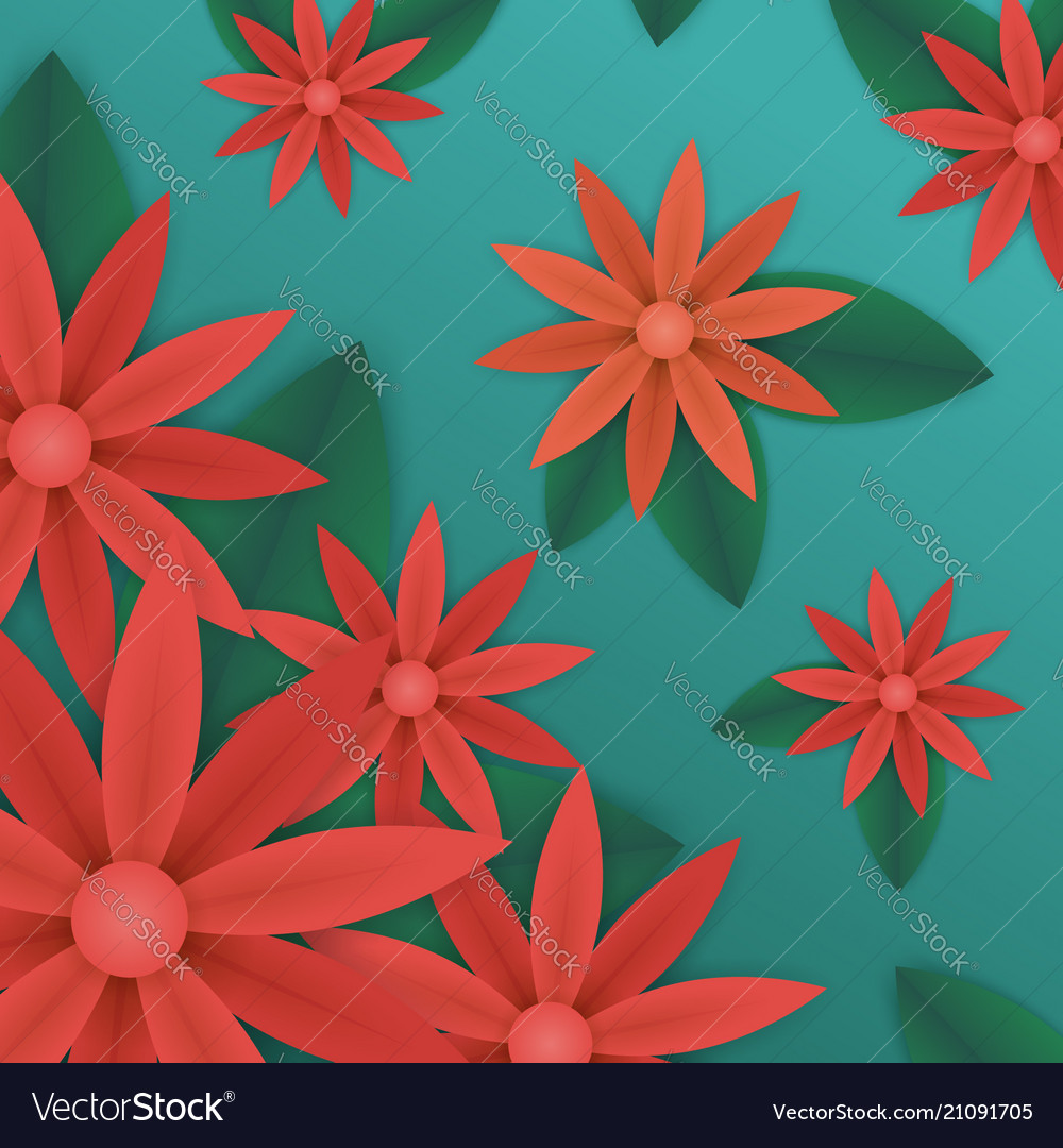 Summer Floral Wallpaper Royalty Free Vector Image