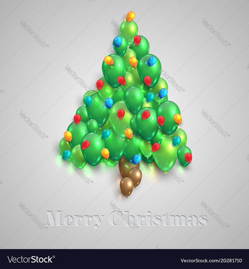 Christmas Tree Balloon.Christmas Tree Made By Balloons