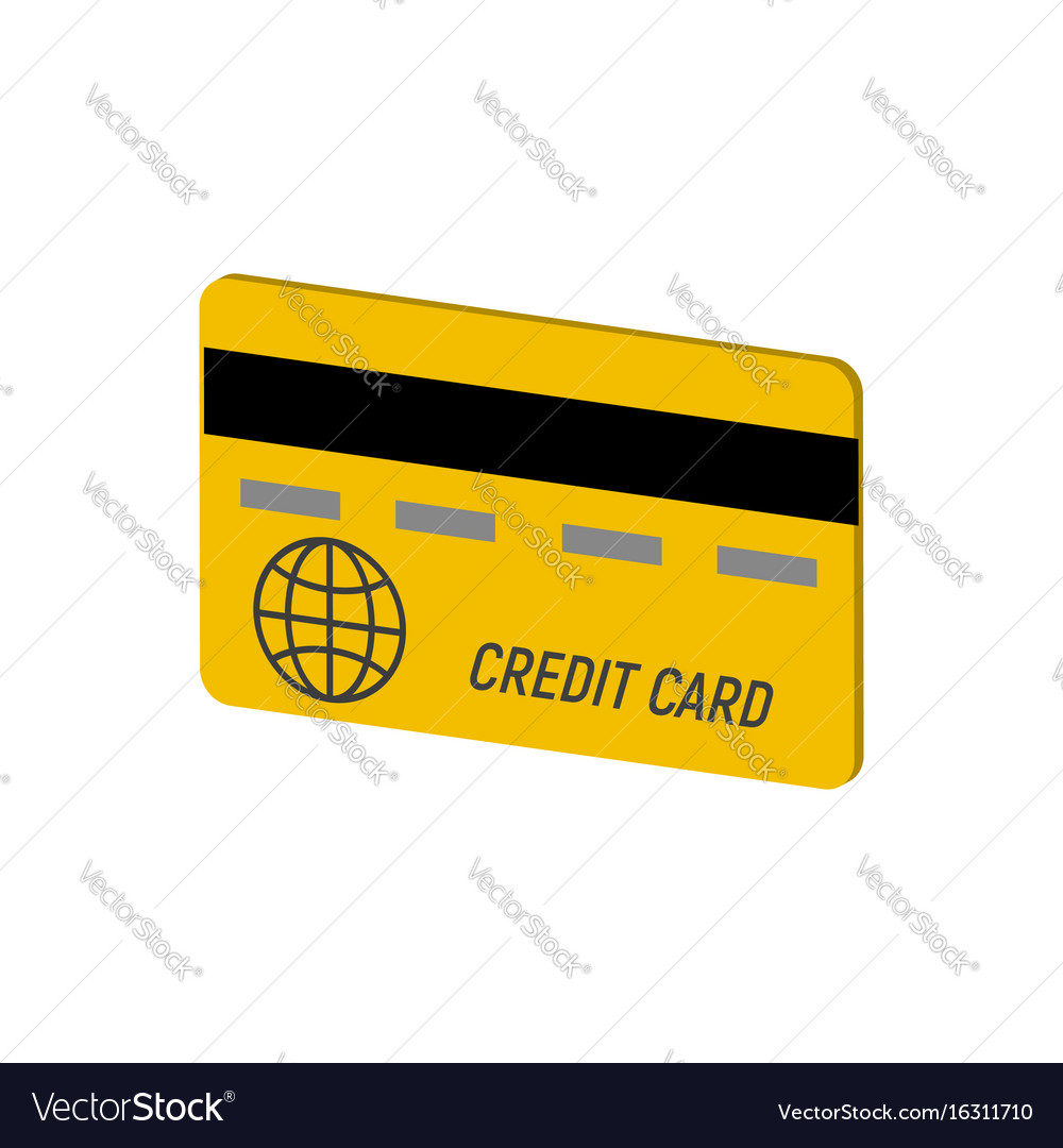 Credit card symbol flat isometric icon or logo 3d