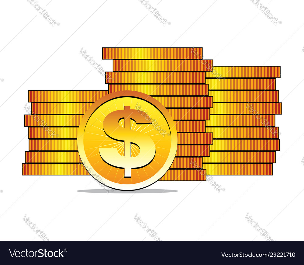 Golden dollar coins earn money advertisement