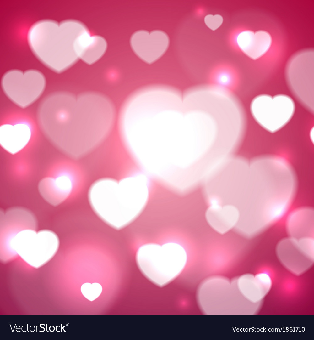 Hearts For Valentines Day Background Royalty Free Vector
