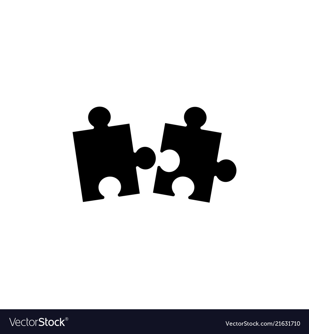 Piece of puzzle flat icon
