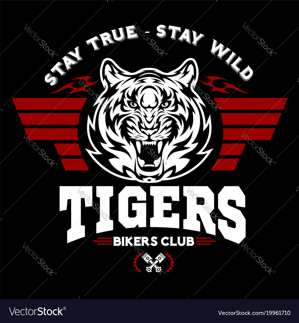 Tiger and wings - logo graphic design logo
