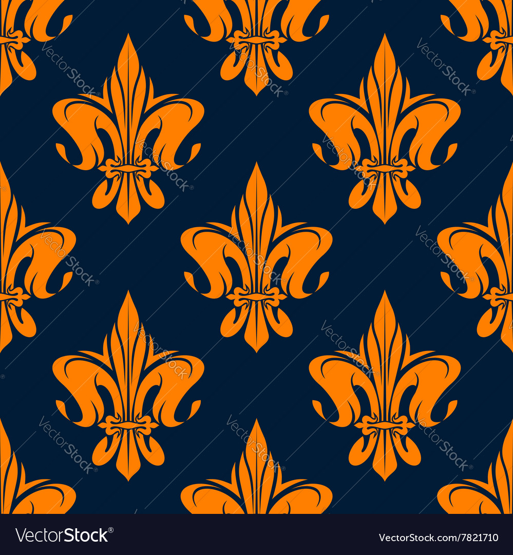 Vintage floral french seamless pattern