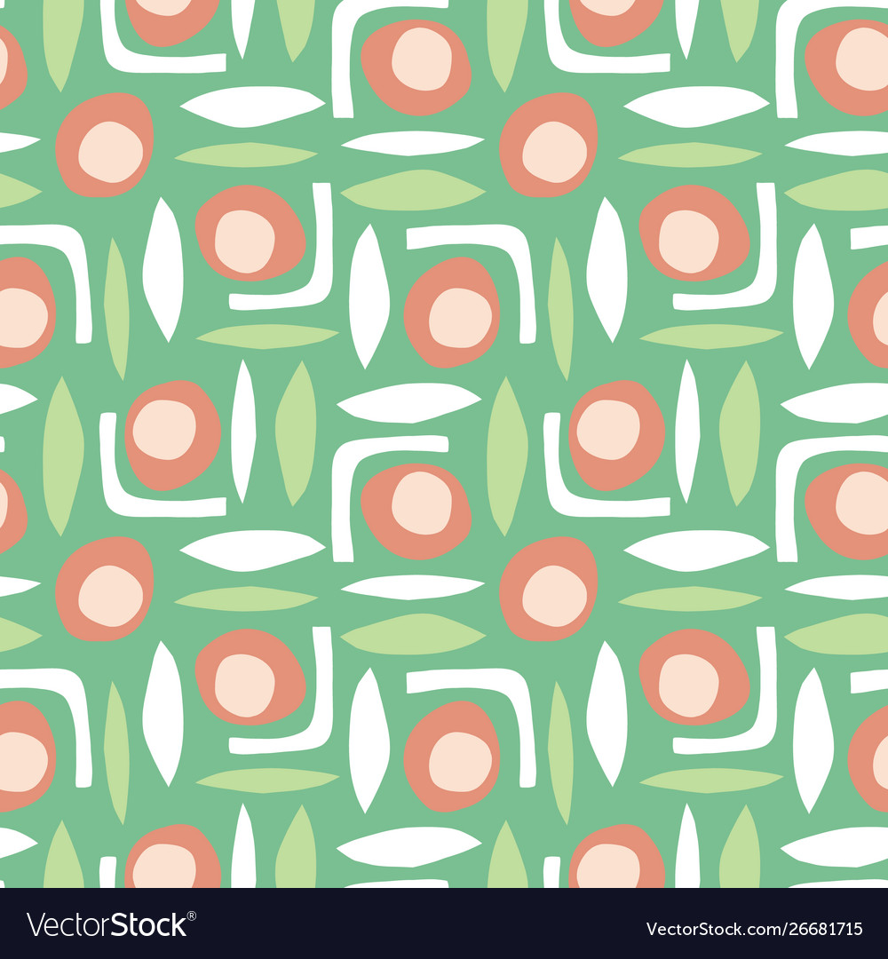 Abstract shapes seamless retro pattern