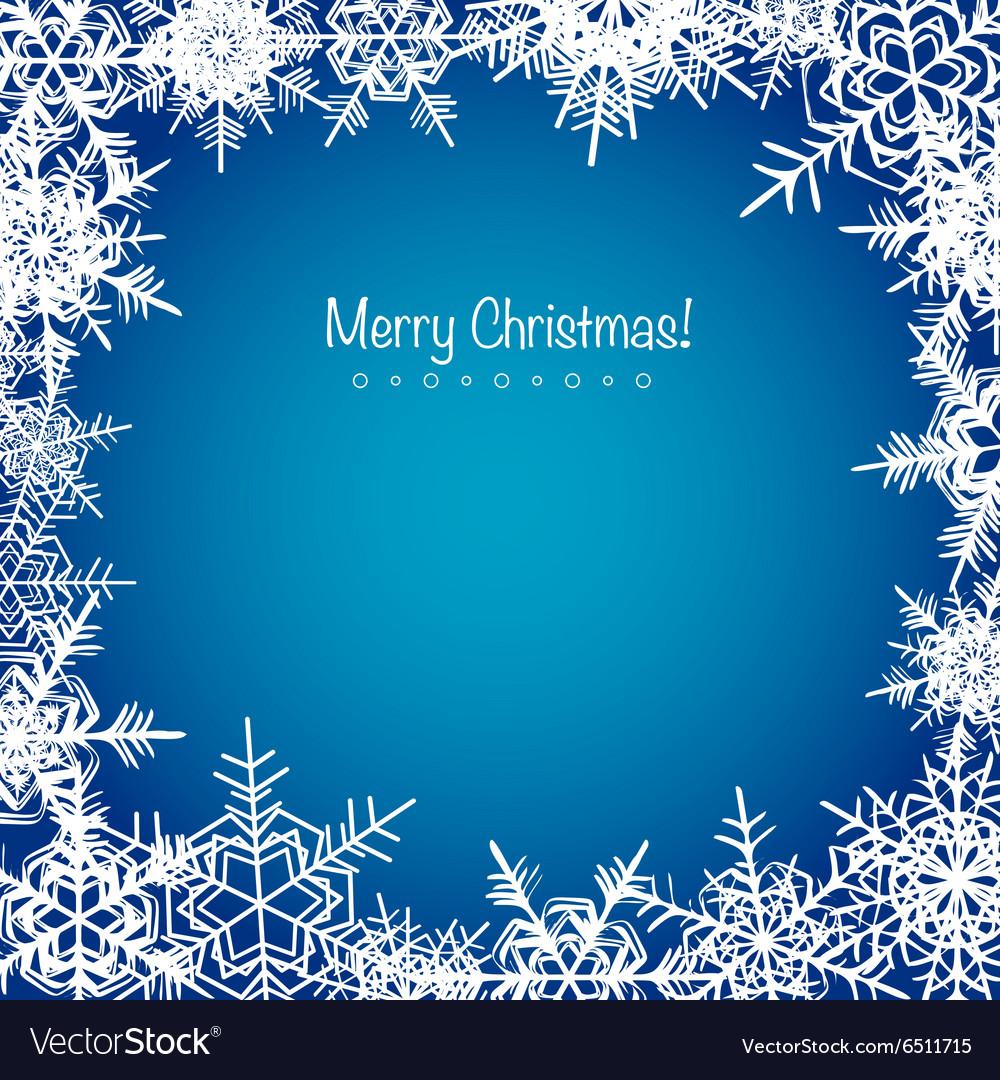 Christmas Snowflakes.Blue Frosty Christmas Snowflakes Background