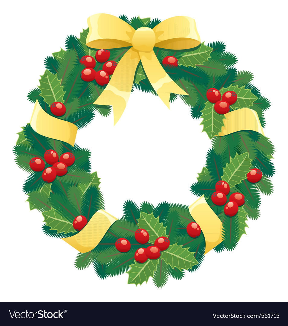 Christmas Wreath Chaplet Vector Images 62
