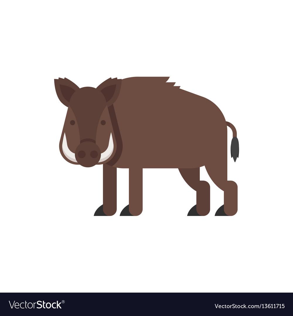 Flat style of boar