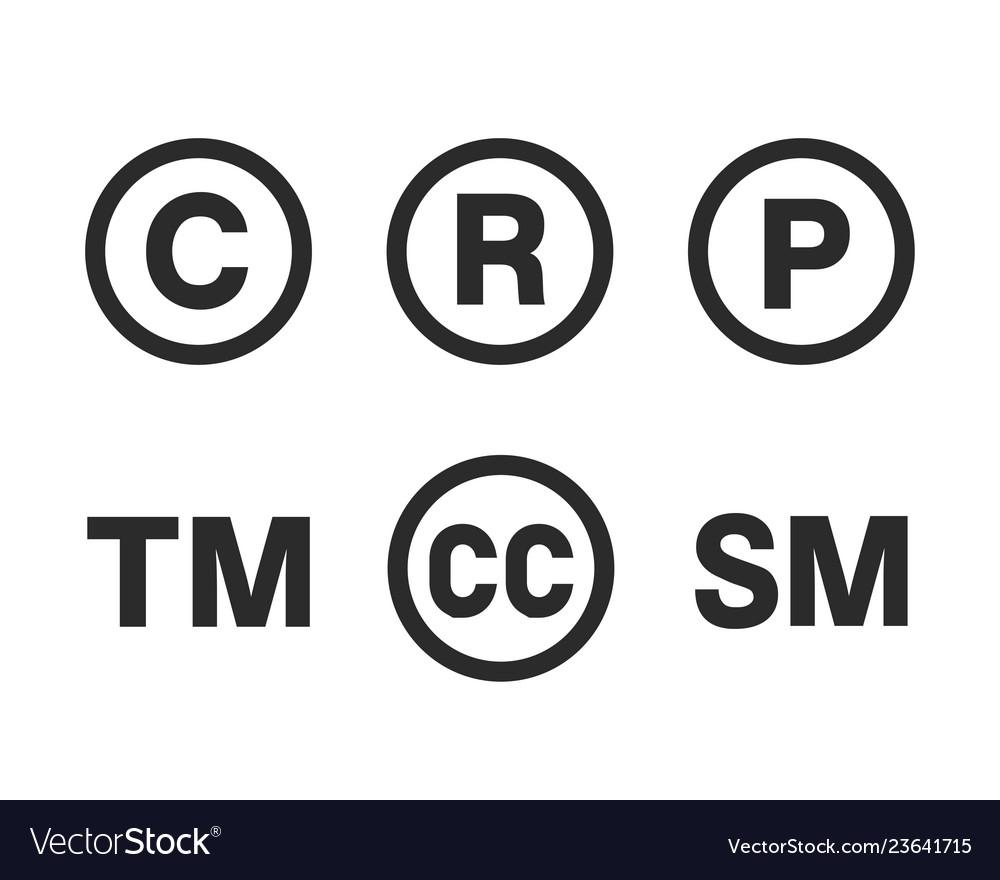 Intellectual property symbol set