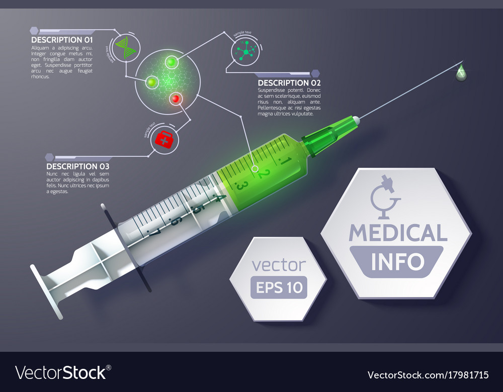 Medical science infographics vector image
