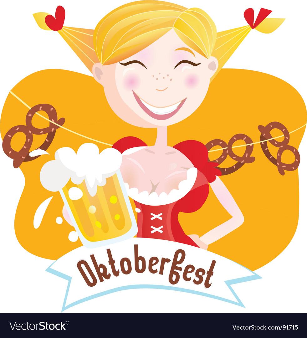 Octoberfest Bavarian girl