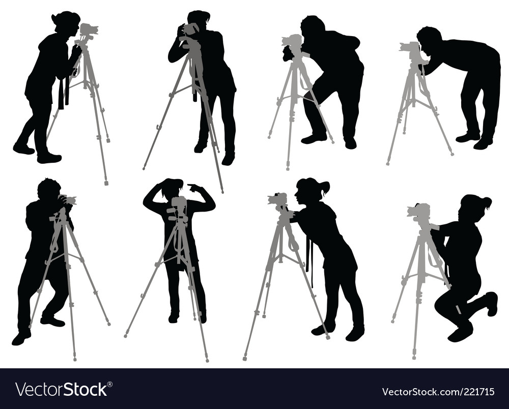 Photographer set vector image