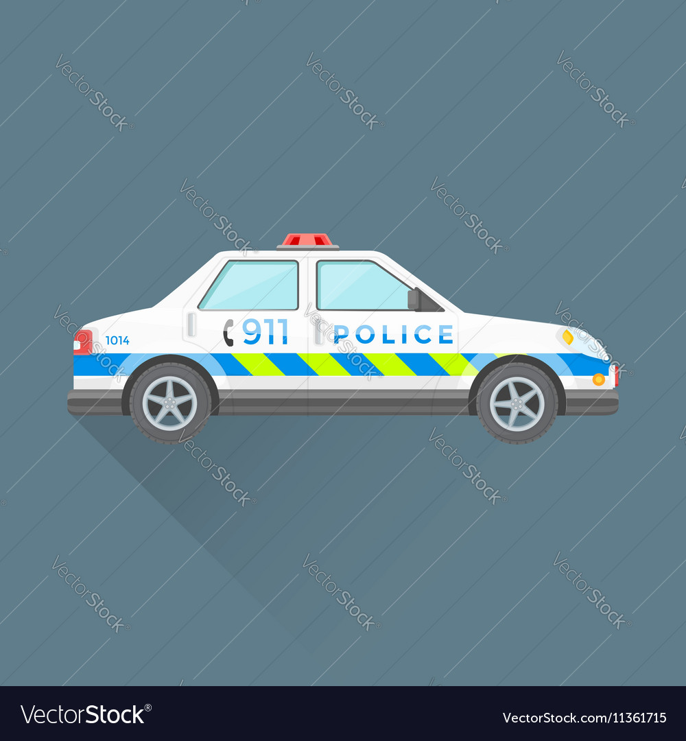 Police emergency service car vector image