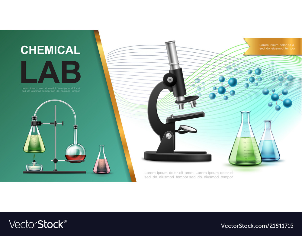 Realistic laboratory chemical research template