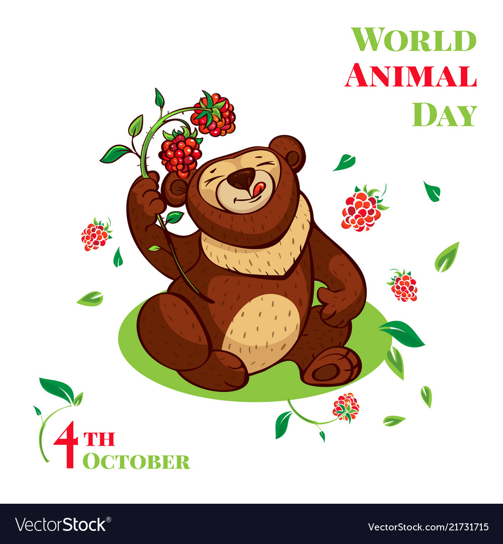 World animal day cute bear concept background