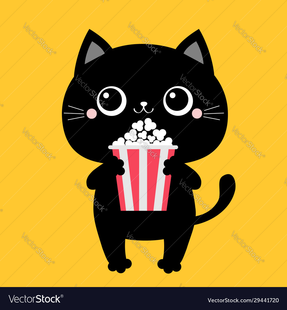 Kids Watching Animated Movies Vector Images 32
