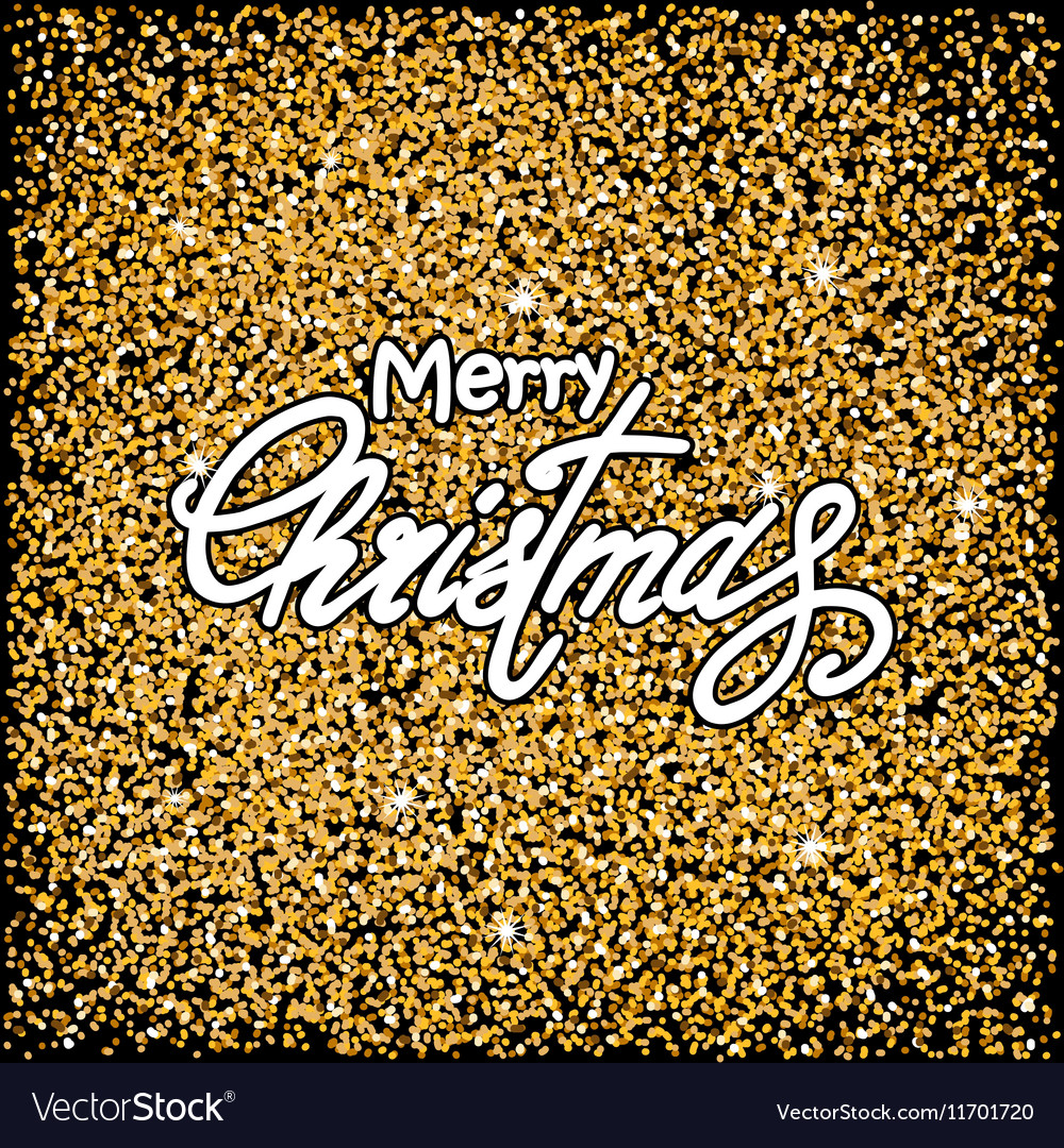 Black Christmas background vector image