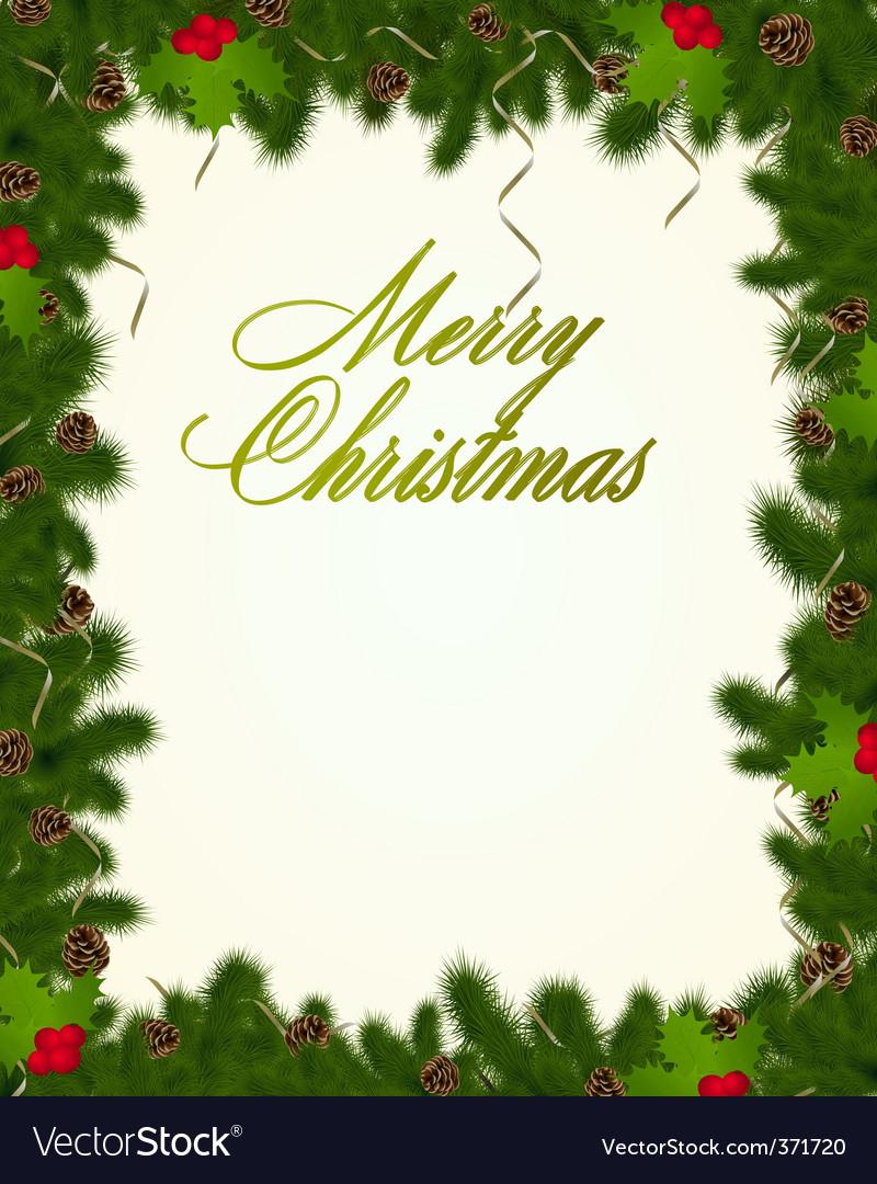 Christmas frame Royalty Free Vector Image - VectorStock