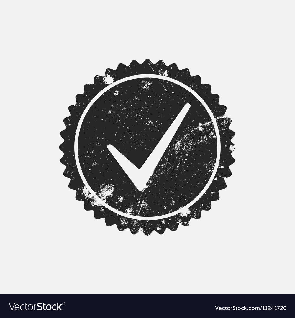 Distressed Checkmark Stamp vector image