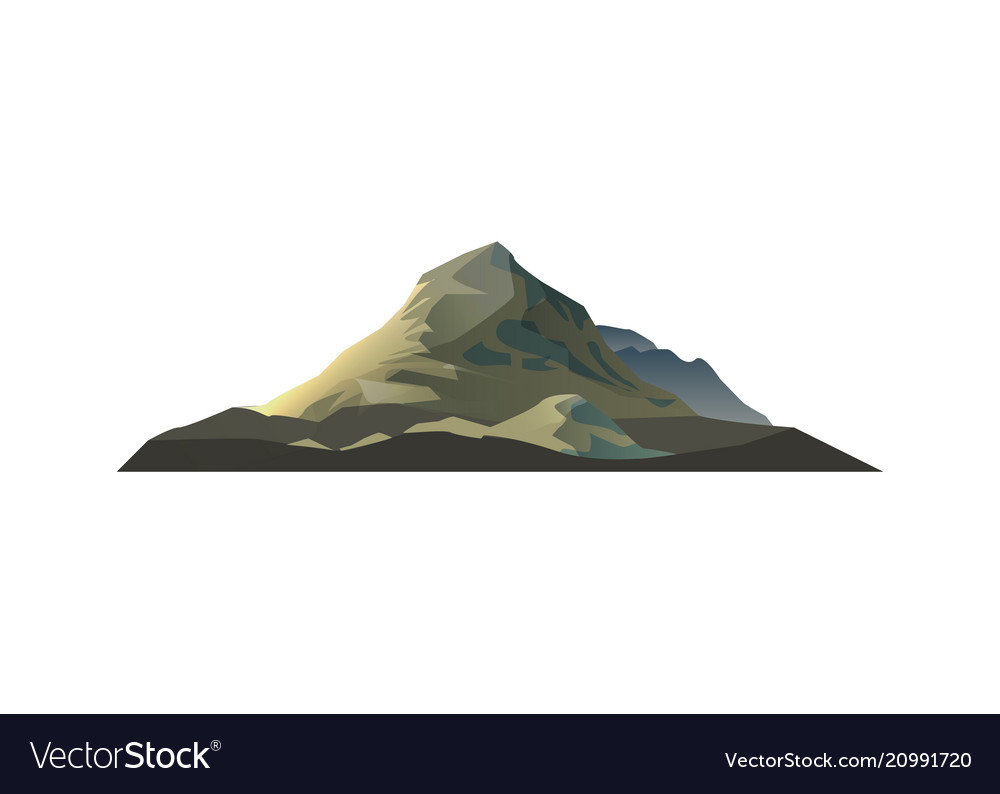 High mountain isolated icon