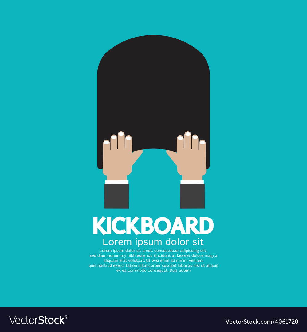 kick board swimming support equipment royalty free vector