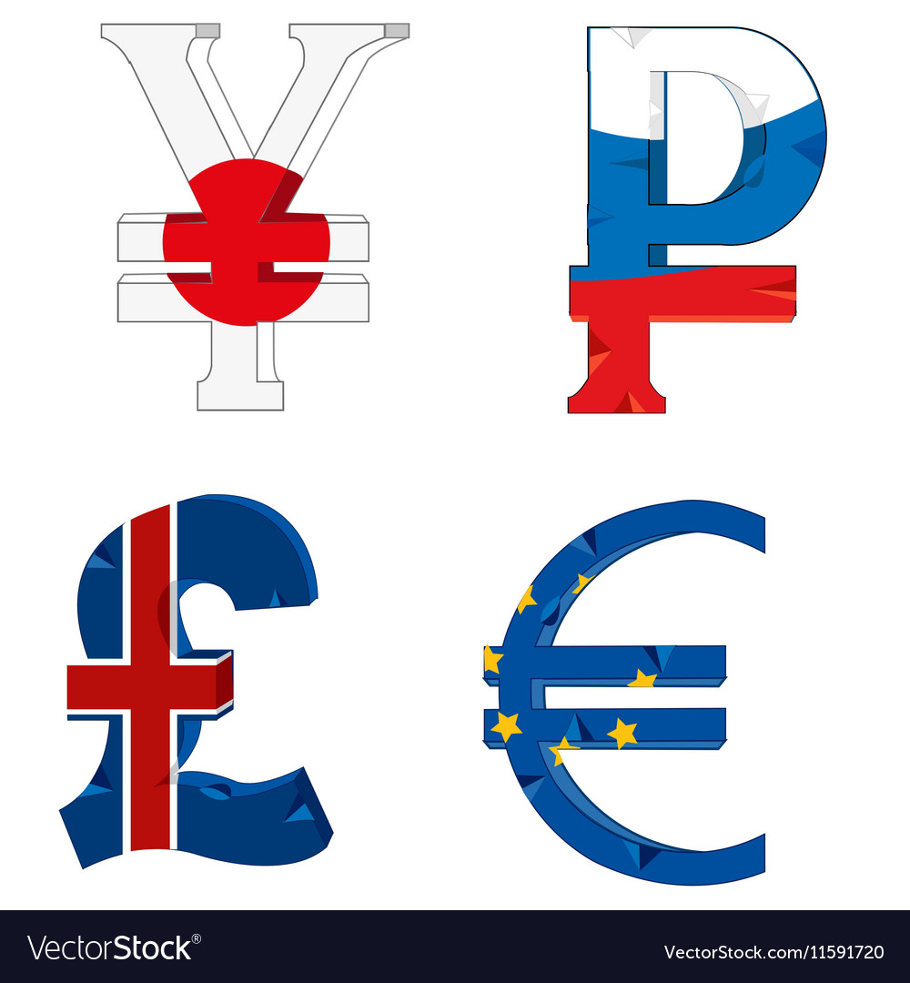 National Symbols Of The Money Royalty Free Vector Image
