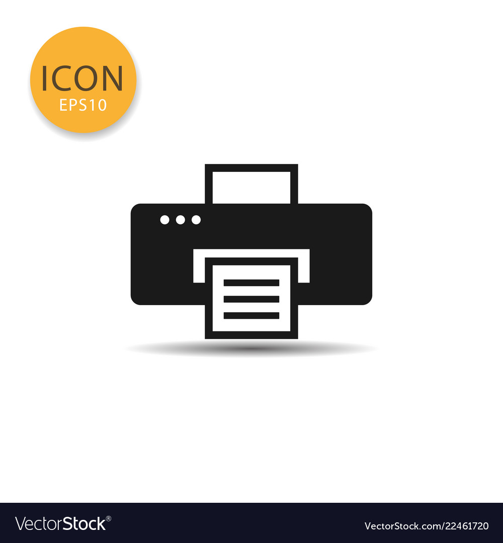 Printer icon isolated flat style