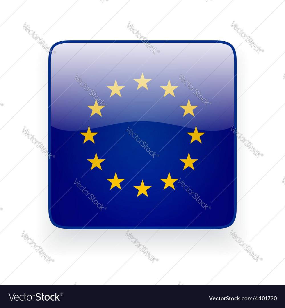 Square icon with flag european union