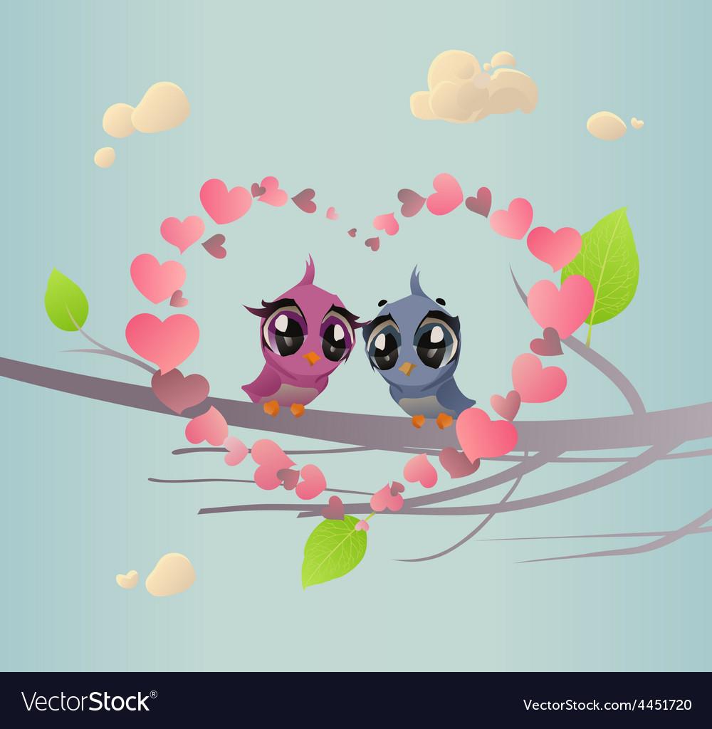 Two Enamoured Birdies