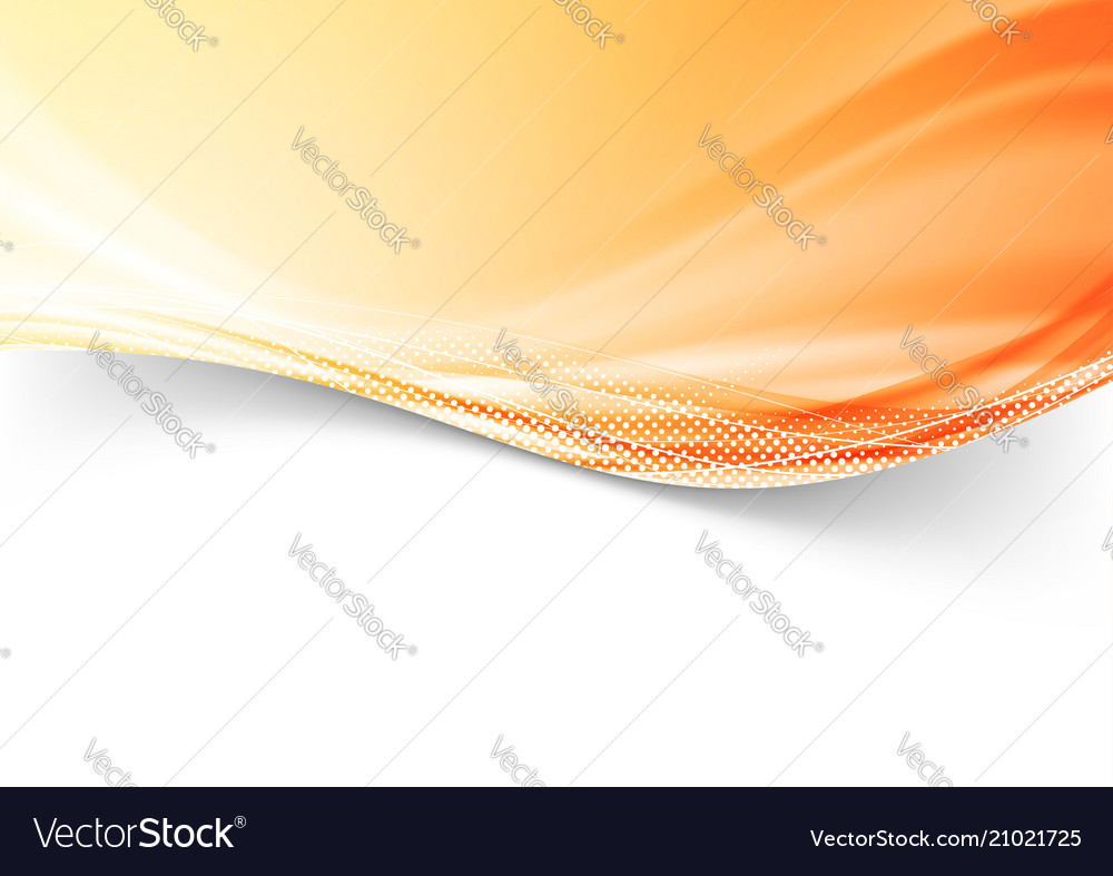 Abstract modern colorful bright orange dotted