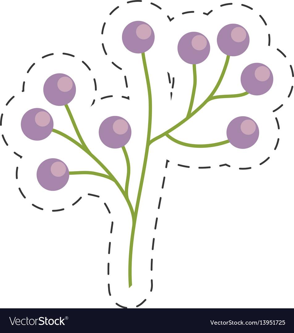 Branch flower wild image cut line