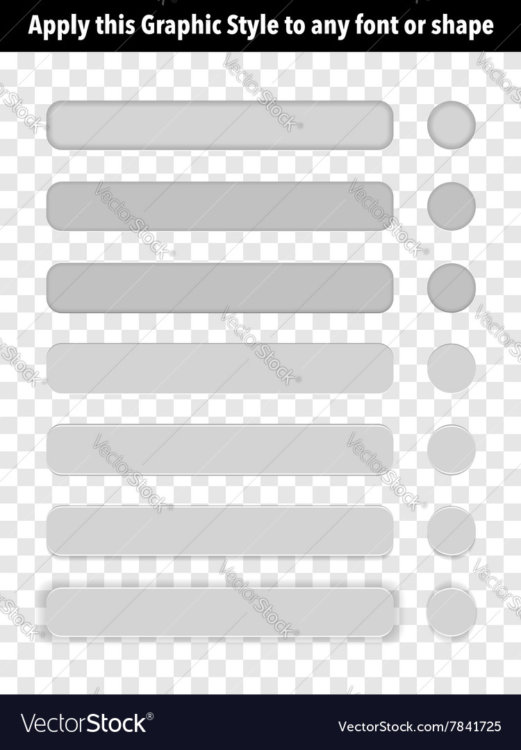 Button Graphic Style vector image