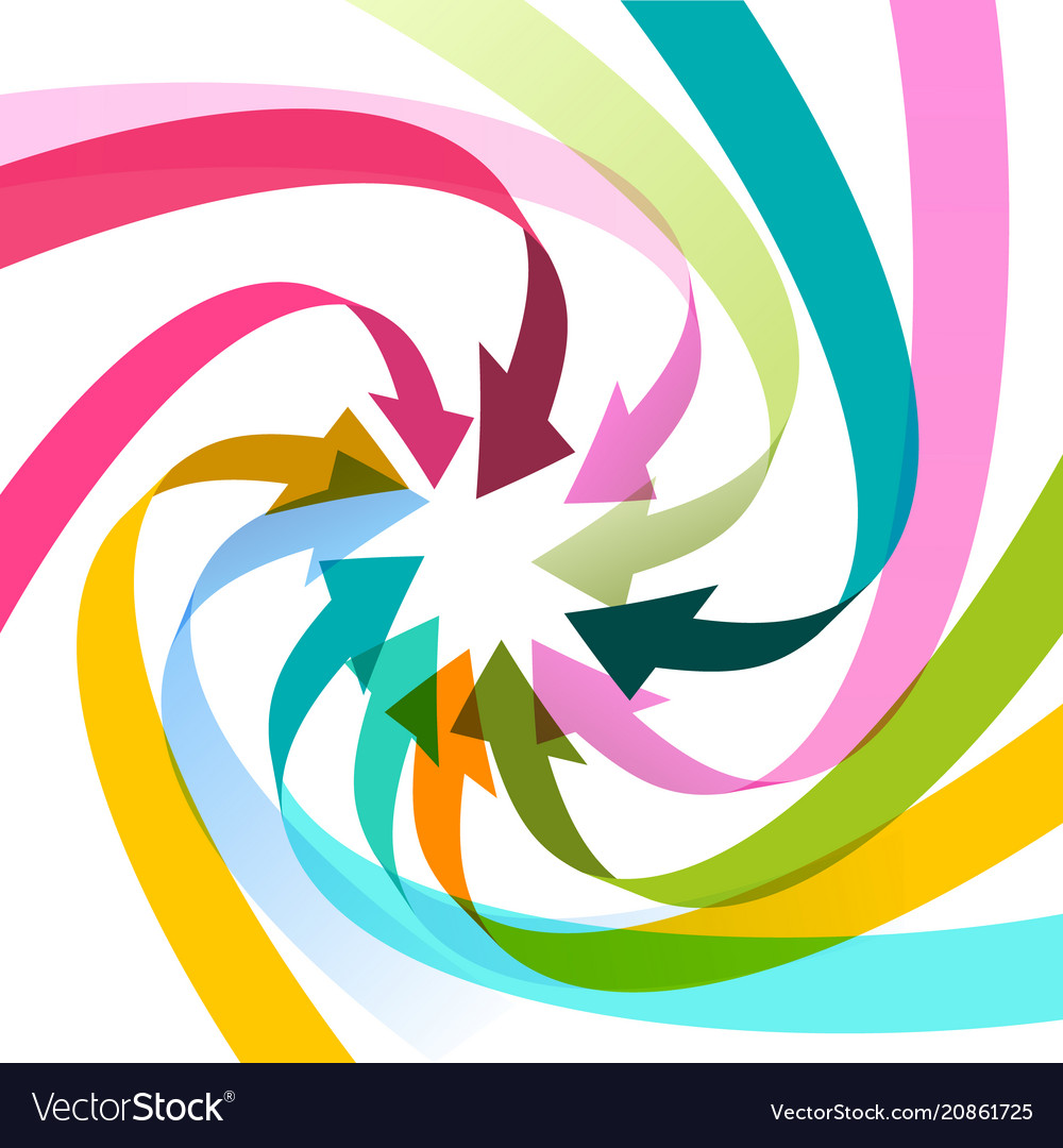Colorful arrows spiral vector image
