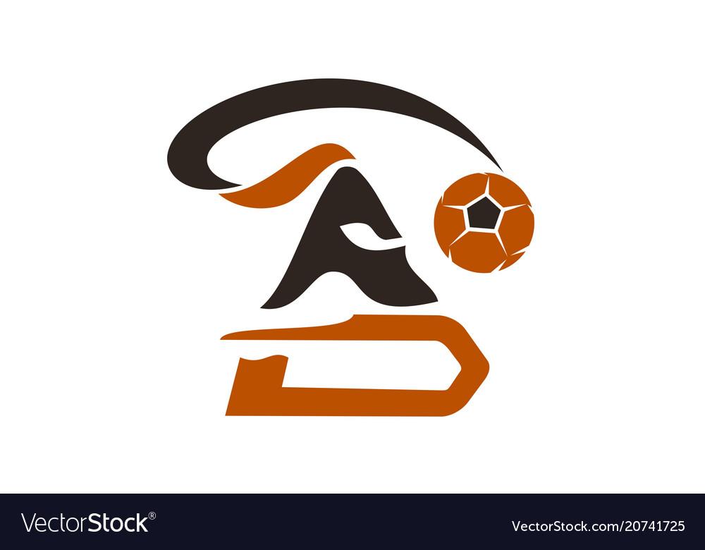 Football warrior logo design template