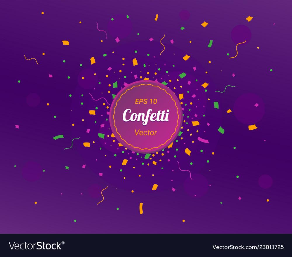 New year 2019 card confetti colorful bright