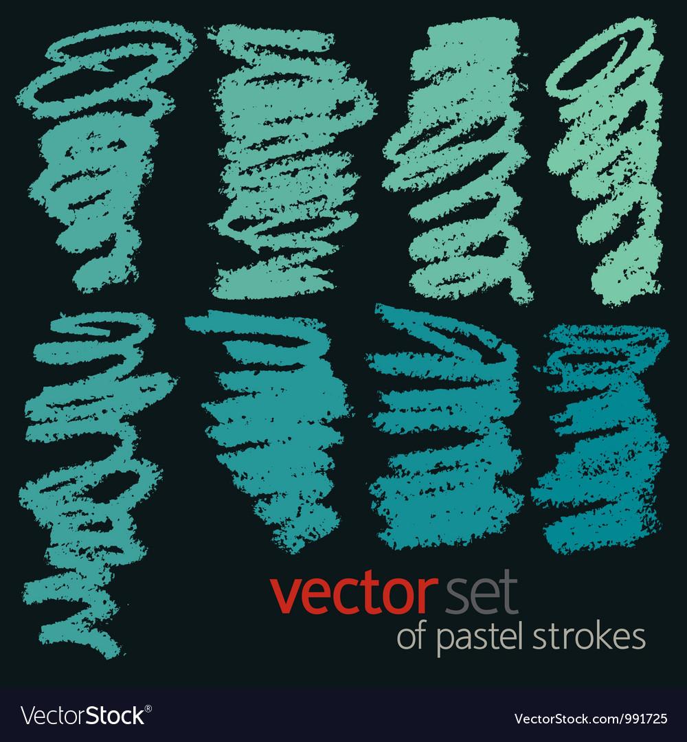 Pastel strokes set 4
