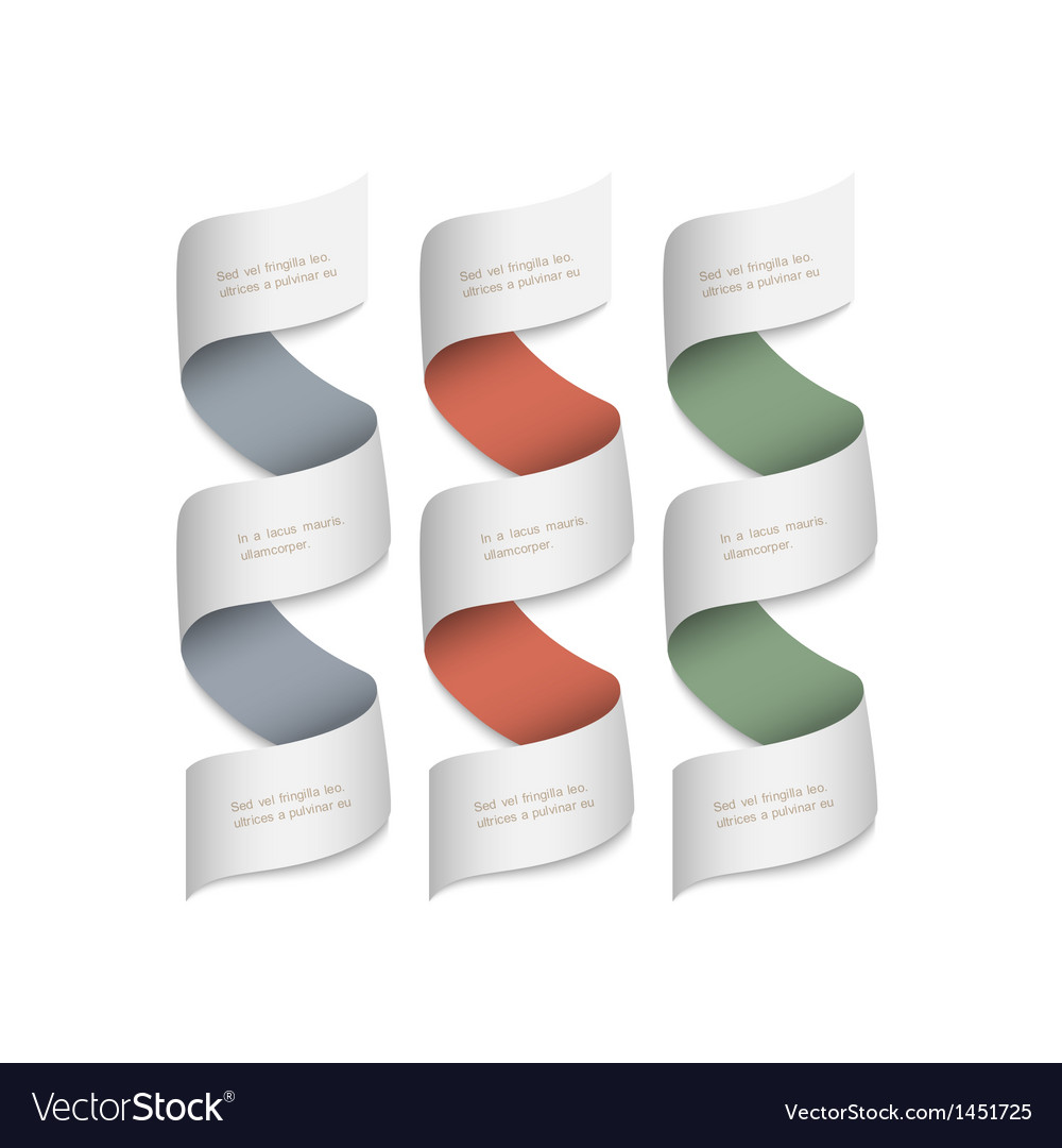 Ribbons banners for design vector image
