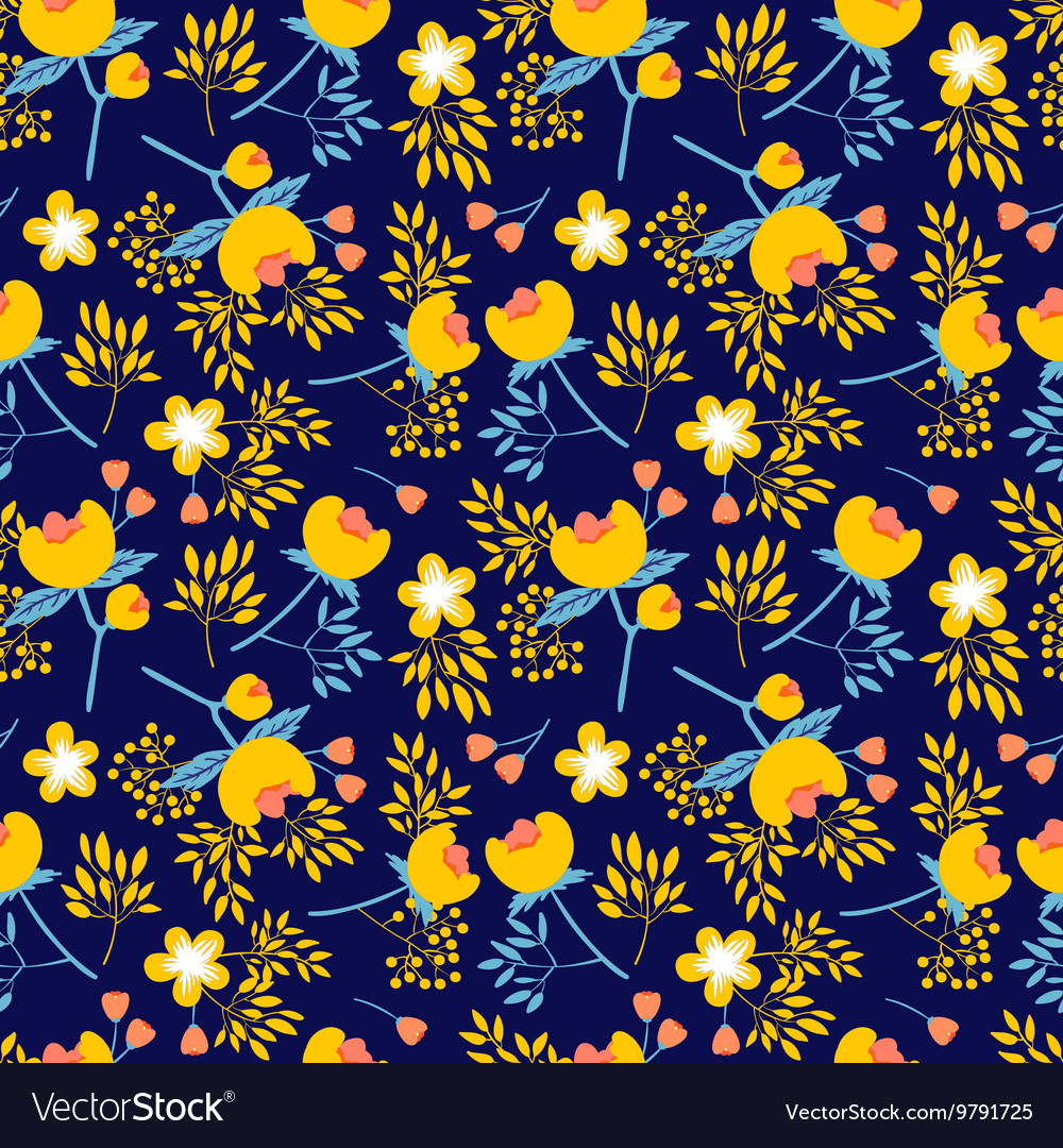 Seamless pattern with beautiful flower