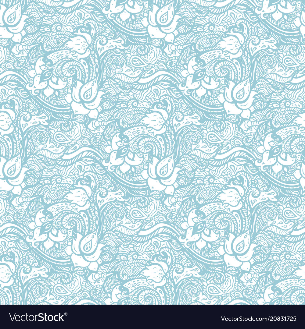 Vintage seamless pattern with abstract flowers