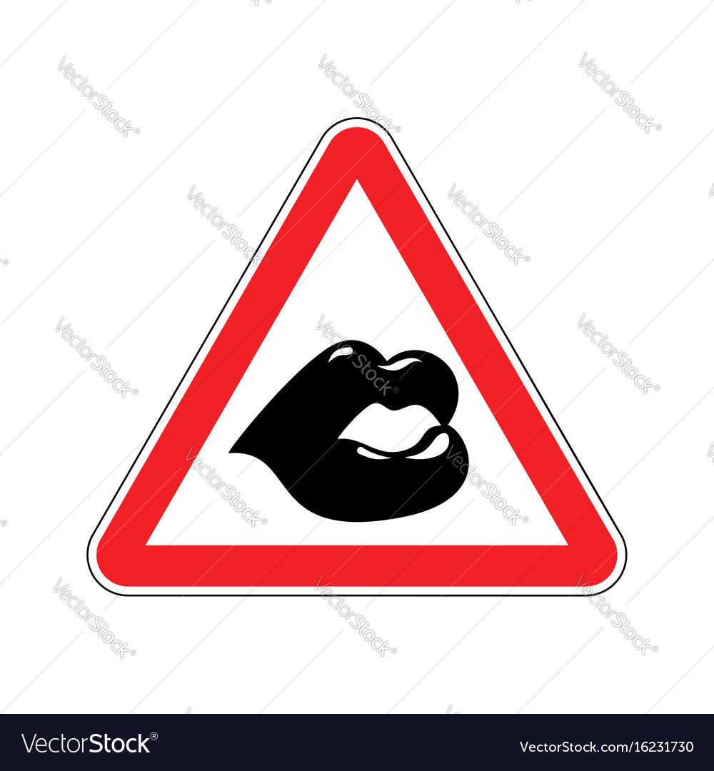 Free kisses sign