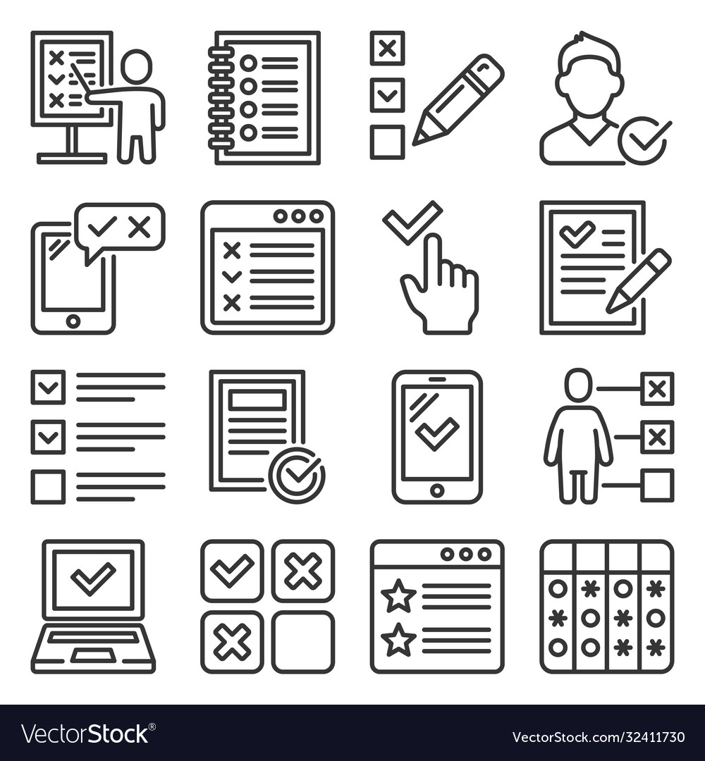 Checklist and to do list icons set
