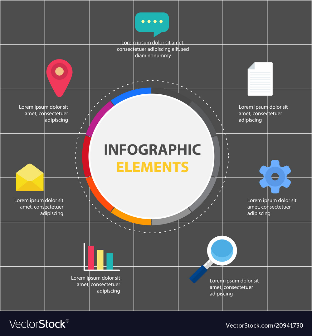 Circle infographic elements report template